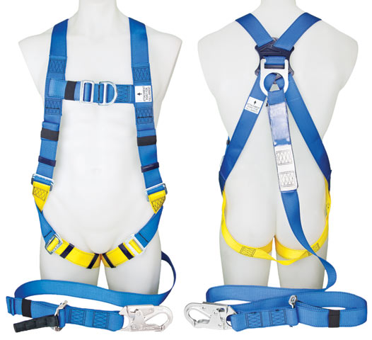Harness - Industrial 3M Protecta P50 1390063A c/w Integral Adjustable 2.0M Lanyard & Snap Hook/Front/Rear D Rings - M