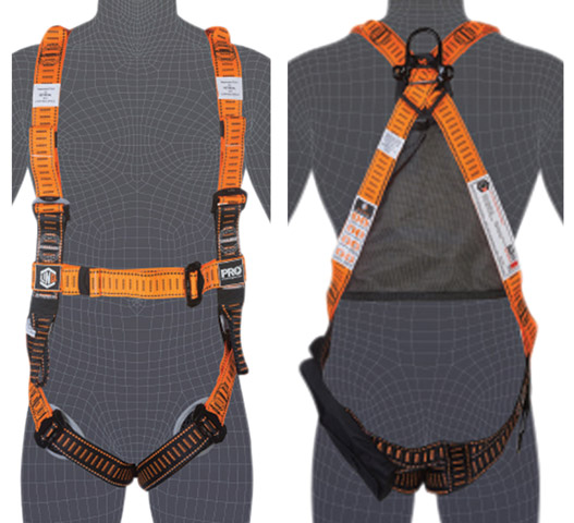 Harness - LinQ Tactician Dorsal D Ring/Front Belay Loops-Rescue Loops/Trauma Straps-S
