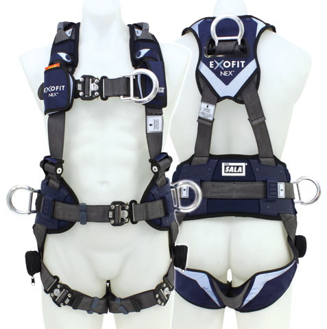 Harness - Confined Space 3M DBI-Sala EXOFIT NEX 623XL-2018 c/w Front/Rear/Side D Rings & Retrieval Loops - XL