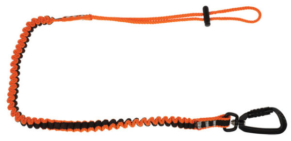 Tool Lanyard - Coil Tether LinQ Double Action Karabiner to Loop Tail