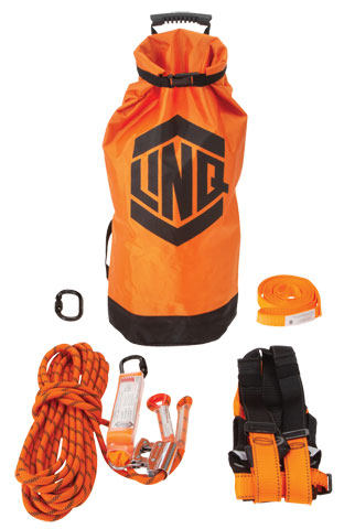 Kit - LinQ Essential Basic Roofers Kit c/w Harness/15M Rope Grab/1.5M Anchor Strap/Karabiner/Kit Bag