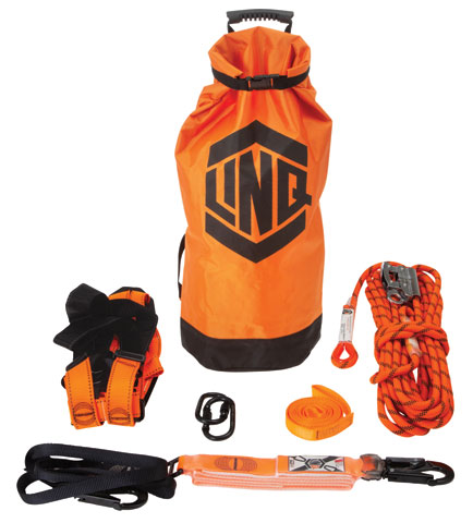 Kit - LinQ Essential Standard Roofers Kit c/w Harness/2.0M Lanyard/15M Rope Grab/1.5M Anchor Strap/Karabiner/Kit Bag