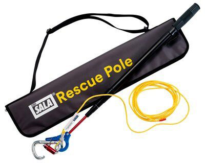 Rescue Pole - Aluminium 3M DBI-Sala 8900299 Telescopic c/w Carabiner/Tagline/Bag - 0.66M to 2.64M