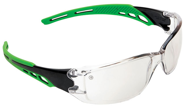 Spectacle - Clear ProChoice Cirrus MI AF/HC I/O Lens Green Side Arms