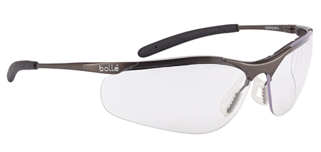 Spectacle - Clear Bolle Contour Metal Frame AS/AF Lens c/w pouch