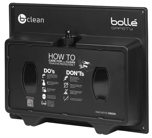 Lens Cleaning Station - Reusable Bolle B-Clean B600 Plastic - 400 Tissues & 500ml Spray Cleaner