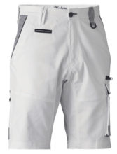 Shorts - Bisley BSHC1422 Painters Contrast Stretch Utility Zip Cargo Cotton Canvas 280gsm White - 97R
