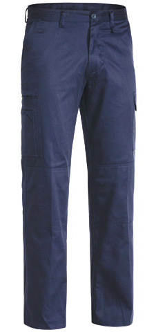 Trouser - Bisley Cotton Drill 190gsm Cool L/Weight Double Layer Knee Navy - 132S