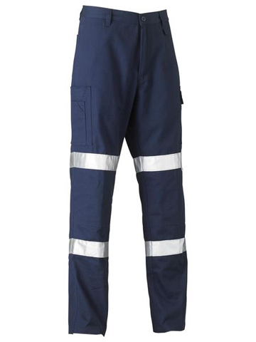Trouser - Bisley Biomotion Cotton Drill 240gsm Cool L/Weight c/w 3M Tape Navy - 132S