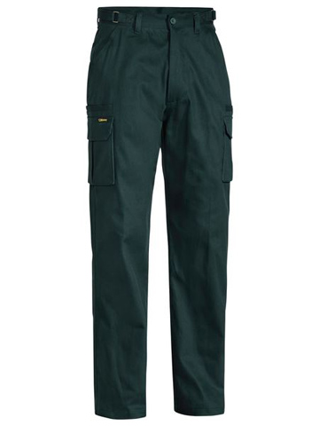 Trouser - Bisley Cotton Drill 310gsm Cargo 8 Pocket Green - 132S