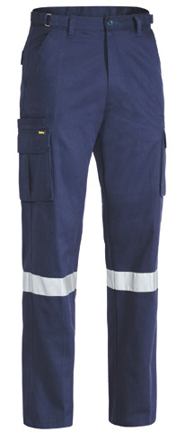 Trouser - Bisley Cotton Drill 310gsm Cargo 8 Pocket c/w Tape Navy - 132S
