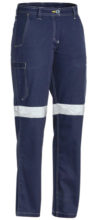 Trouser - Bisley Womens Cotton Drill 190gsm Cool Vented Lightweight Contrast Stitching c/w Tape Navy - 24