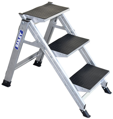 Step - Stairway Aluminium Bailey Ladder 3 Step 150kg 2.67M Reach