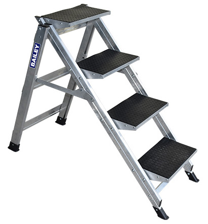 Step - Stairway Aluminium Bailey Ladder 4 Step 150kg 2.89M Reach
