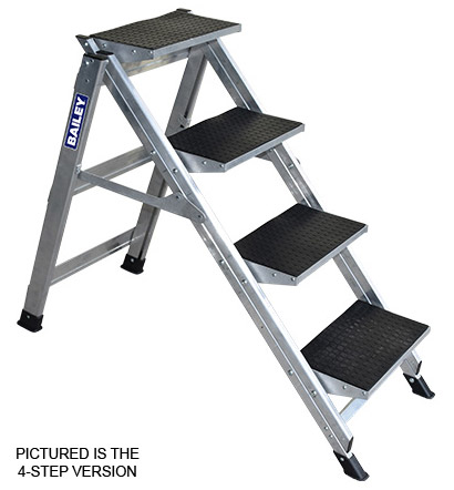Step - Stairway Aluminium Bailey Ladder 5 Step 150kg 3.11M Reach