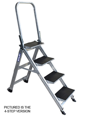 Step - Stairway Aluminium Bailey Ladder 5 Step 150kg 3.11M Reach c/w Handrail