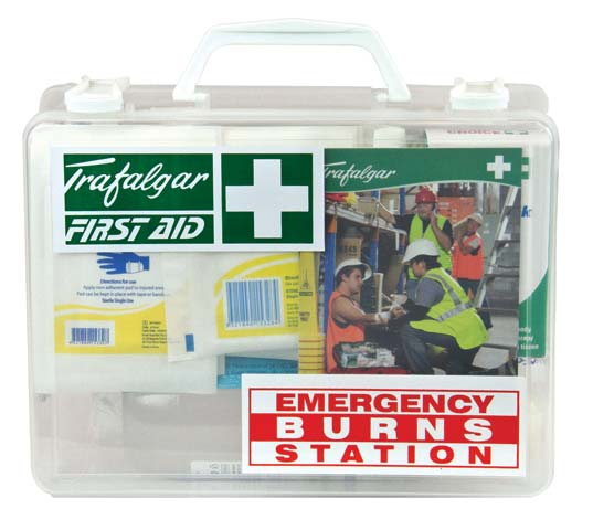 First Aid Kit - Emergency Burns Station Trafalgar Hard Case 250 x 200 x 90mm
