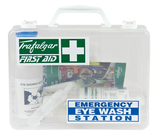 First Aid Kit - Emergency Eye Wash Station Trafalgar Hard Case 250 x 200 x 90mm