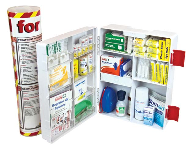 First Aid Kit - National Workplace Burns Trafalgar Wall Mount Plastic Cabinet 400 x 480 x 190mm