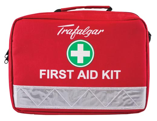 First Aid Kit - Heavy Vehicle HV1 Trafalgar Soft Case Red 310 x 220 x 130mm