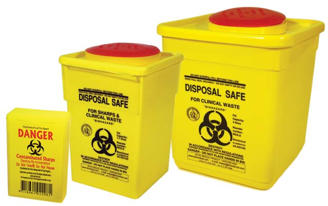 First Aid - Sharps Container Yellow 1.4L