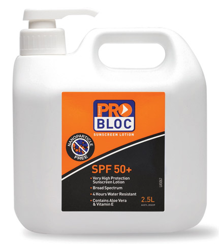 Sunscreen - ProBloc SPF 50+ Lotion 4hr Pump Bottle - 2.5L