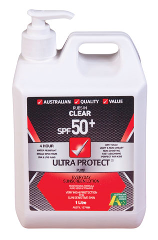 Sunscreen - Ultra Protect SPF50+ 4hr Lotion - 1L Pump Pack