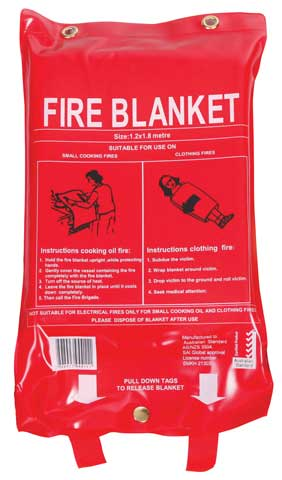 Fire Blanket - Fireworld Fibreglass 1.2m x 1.8m