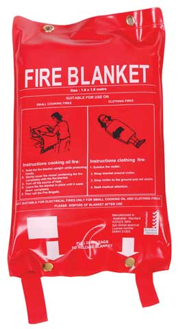 Fire Blanket - Fireworld Fibreglass 1.8m x 1.8m