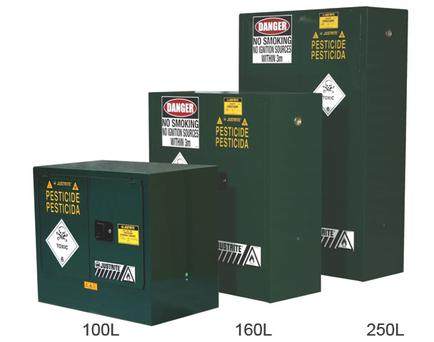 Cabinet - Pesticides Storage Justrite Green - 250 Litre