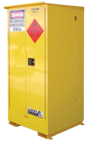 Cabinet - Flammable Liquids Storage Justrite Weatherproof Outdoor Yellow - 350 Litre