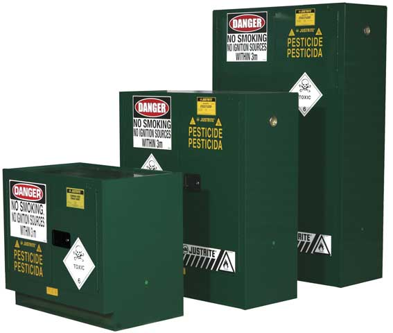 Cabinet - Pesticides Storage Justrite Green - 100 Litre