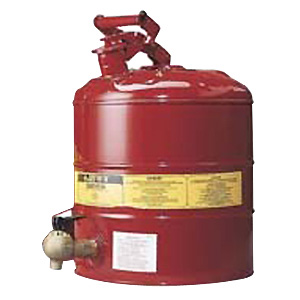 Dispensing Can - Flammable Liquids Justrite c/w Faucet - 19.0 Litres