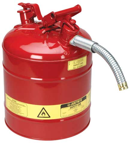 Dispensing Can - Flammable Liquids Justrite 25mm Hose - 19.0 Litre