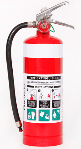 Fire Extinguisher - Fireworld Dry Chemical 2.0kg - ABE