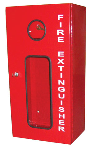 Cabinet - Steel Lockable for 4.5kg Fire Extinguisher c/w Breakable Glass
