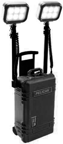 Light - Remote Area System Pelican 9460 Dual Head Rechargeable - Black