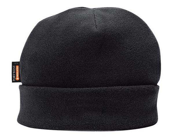 Beanie - Portwest Polar Fleece HA10 Insulatex Lined 100% Polyester - Black