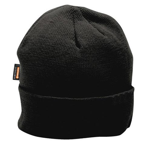 Beanie - Portwest Knit B013 Insulatex Lined 100% Acrylic - Black