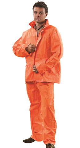 Jacket & Trouser Set - PVC/Polyester ProChoice Water Resistant/Breathable HI VIS Orange - 5XL