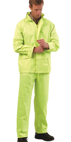 Jacket & Trouser Set - PVC/Polyester ProChoice Water Resistant/Breathable HI VIS