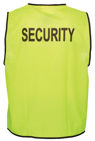 Vest - Polyester SECURITY Print Prime Mover Velcro Front HIVIS D Yellow - 5XL