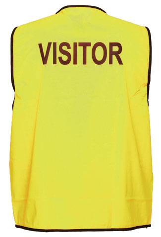 Vest - Polyester VISITOR Print Prime Mover Velcro Front HIVIS D Yellow - 5XL