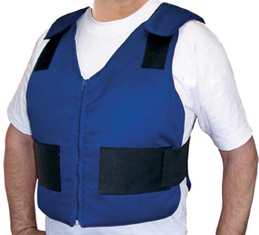 Ice Vest - Body Cooling ICEEPAK Cotton Drill c/w 4 Cryopak Inserts Blue - XLarge Size (>120KG) - XL