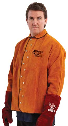 Jacket - Welders Red Leather ProChoice Pyromate Aramid Fibre Stitched - M