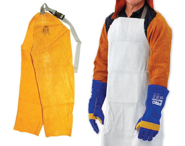 Sleeves - Welders ChromeRed Leather ProChoice Pyromate 630mm