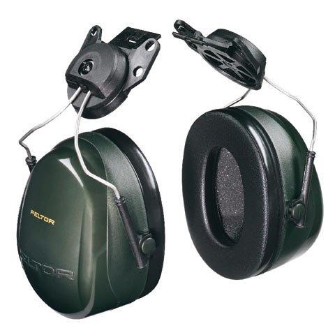 Earmuff - Cap Attach Peltor H7P3G Green (CL 5 - 27dB)