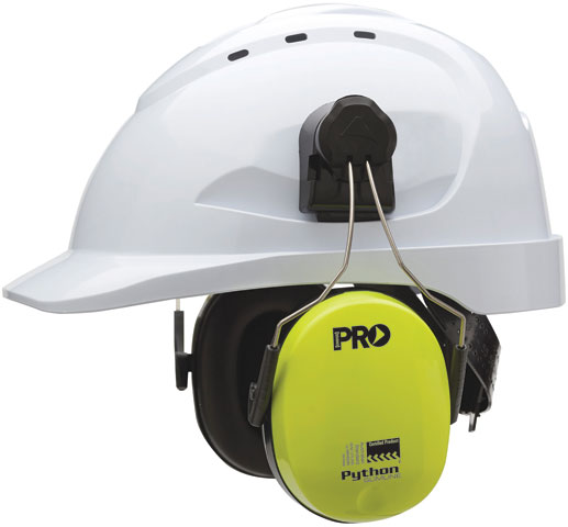 Earmuff - Cap Attachable ProChoice Python Slimline HI VIS Yellow (CL5 - 31dB)