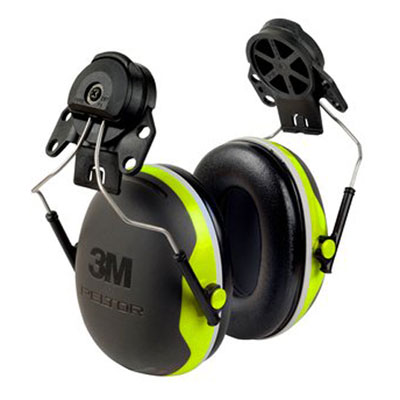 Earmuff - Cap Attach Peltor X4P3E/G Green/Black (CL5 - 27dB)