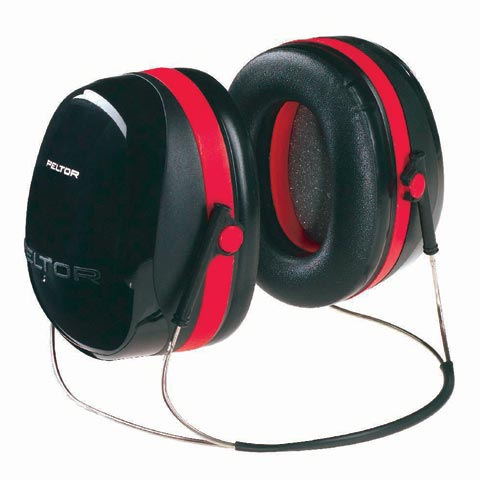 Earmuff - Neckband 3M Peltor Optime III H540B Blk/Red (CL5 - 34dB)